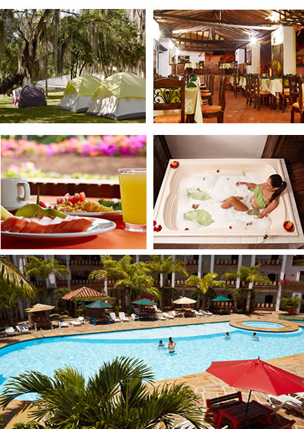 instalaciones y actividades: camping - restaurante - spa - piscina
