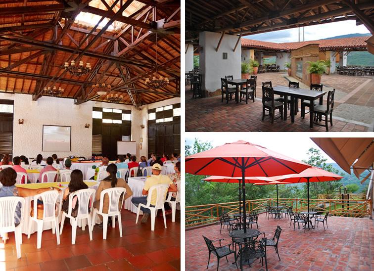 instalaciones meson del cuchicute: salon - restaurante el mirador - restaurante el conde