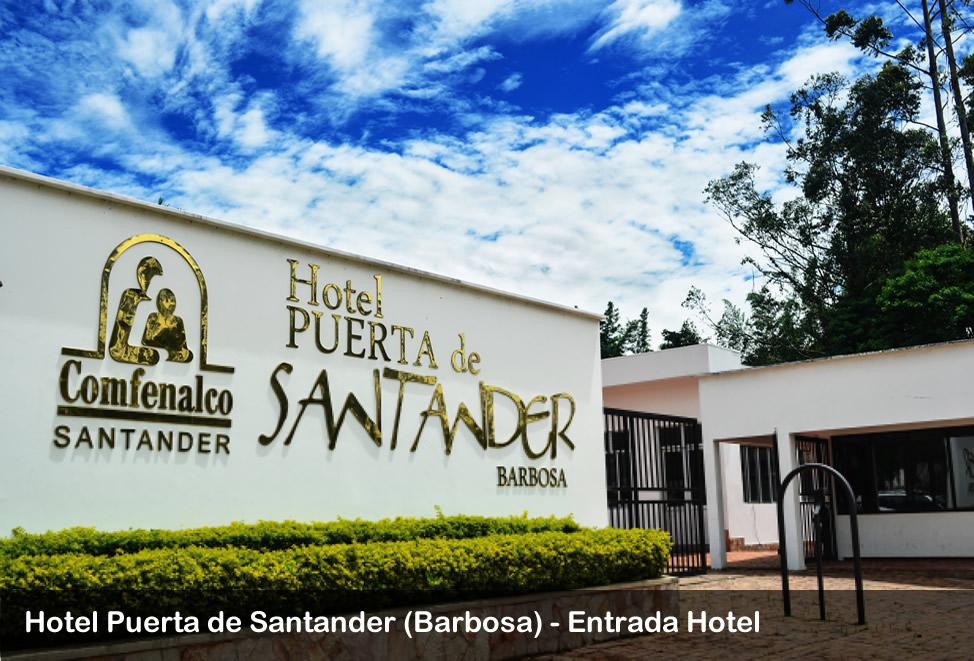 entrada hotel puerta de santander - barbosa