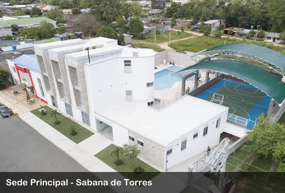 imagen aerea sede principal sabana de torres